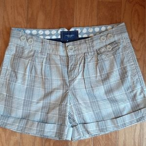 Brown Plaid Live your Life American Eagle Shorts 0
